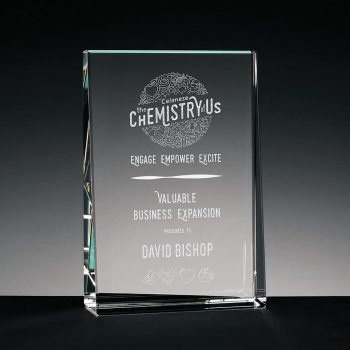 Baldwin Vertical - Crystal Plaque