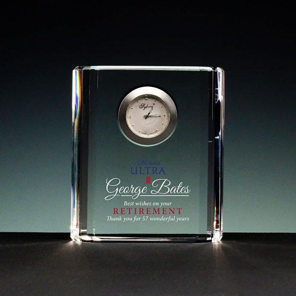 Harmonic Desktop Glass Clock