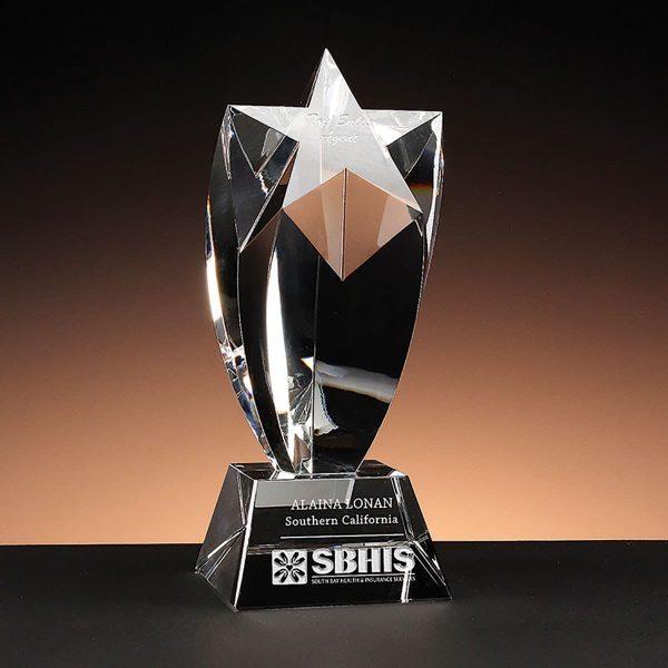 Rising Star Award - unique star trophy