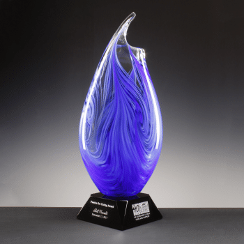 Wave Vase - Blue Mix